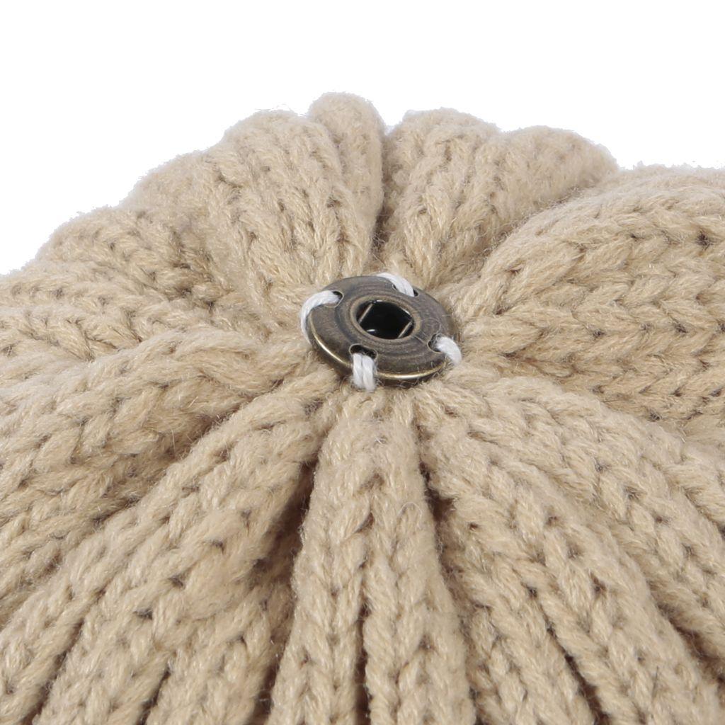 Camel Pom Pom Hat - Rib Knit 1d40efe5586