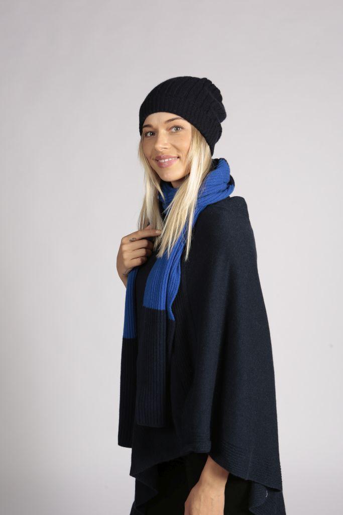 e81ac83fa59 Navy Blue Cashmere Hat - Cashmere Beanie - Scottish Cashmere Company